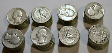 New ListingLot of 80 Washington Quarters 90%Silver mixed dates from 1934 to 1964