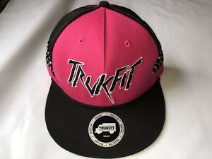 NEW Authentic Trukfit Mesh Snapback Hat Beetroot Purple Black TM1302H10