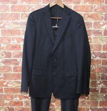 $1395 Z ZEGNA Drop 8 City Slim Fit Wool Black Suit 50 R US 40 R 38 R Modern