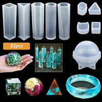 83pcs Casting Silicone Epoxy Resin Molds Spoon Kit Jewelry Making Pendant Craft