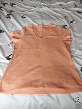 Ladies Orange Plain Scoop Neck Tshirt, Size 22, Unbranded