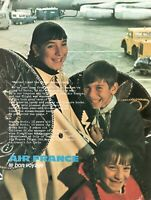 1971 Original Advertising' Air France Company Aerial The Bon Voyage Youth