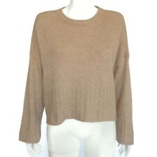 MADEWELL Almond Brown Boxy Relaxed 100% Cashmere Sweater Womens Small - 719
