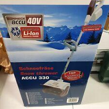 Sonneck Schneefräse Snowmaster ACCU450 40V 5 Ah handlich leise Akku Schnee
