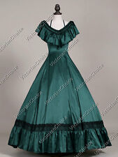 Victorian Soutern Belle Princess Fancy Ball Gown Witch Halloween Costume 127