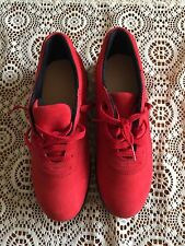 CANFIELD BY P.W. MINOR WOMENS RED SOFT LEATHER COMFORT SHOES SIZE 8 1/2