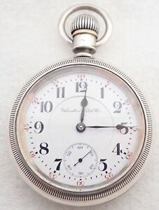 ANTIQUE 18S HAMILTON 940 21 JEWEL 21J 3 OUNCE COIN SILVER TWO TONE POCKET WATCH