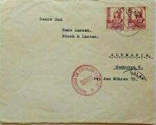 SPAIN 1937 COVER WITH UNUSUAL NEGOCIADO DE CENSURA MILITAR SALAMANCA CACHET