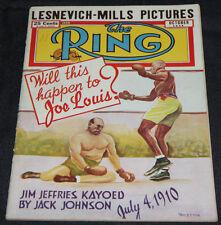 1948 Oct The Ring Magazine Joe Louis Lesnevich-Mills (Fine)