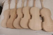 3pcs unfinished violin 4/4 flame maple back Russian spruce violin parts Yinfente