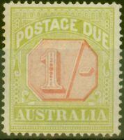 Australia 1923 1s Scarlet & Pale Yellow-Green SGD85 Fine Mtd Mint