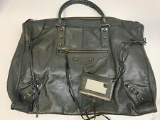 Authentic Balenciaga Weekender Chevre Black Leather Classic Hardware not City