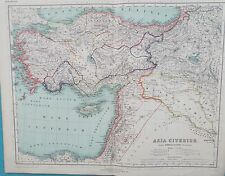 Map Ancient Asia Minor & Palestine. 1898. Kiepert TURKEY. MIDDLE EAST Original