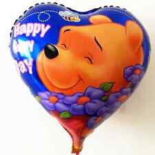 """Baby Party 18"""" Winnie the Pooh,Heart Shaped, Helium Foil Balloon x pack5"""