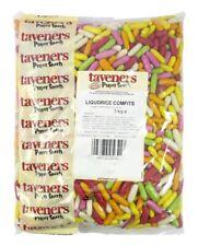 Taveners Liquorice Comfits 3kg Full Bag, Traditional Sweets Sugar Coated Pieces