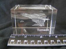 GLASS PAPERWEIGHT TORNADO