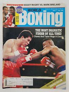 World Boxing Magazine August 1990 - Meldrick Taylor & Julio Cesar Chavez Cover