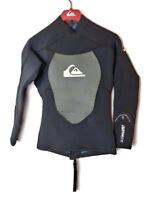 Quiksilver Syncro 1.5MM 100% Hyperstretch 3.0 Men's Sz XS/46 Black Wetsuit Top