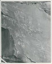 1967 Drawings on Wall in Valley of Fire State Park Original News Service Photo