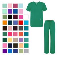 Adar Plus Size Men Women Medical Nursing Doctor Scrub Set V-neck Shirt & Pants