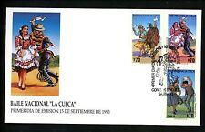 Postal History FDC #1061-1063 Chile 1993 Dance La Cueca