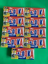 TOPPS Bazooka Bubble Gum W/Special 1989 Topps Baseball Card LOT OF 9-NEW SEALED!