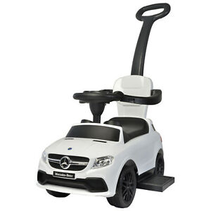 Best Ride On Cars Baby Toddler Mercedes Model 3 in 1 Push Car Riding Toy, White