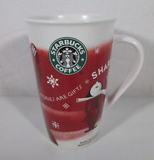 Starbucks Coffee 2010 Christmas Mug 16 oz Stories are Gifts  Share Tall Red Cup