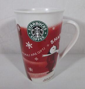 Starbucks Coffee 2010 Christmas Mug 16 oz Stories are Gifts  Share Tall Red Cup