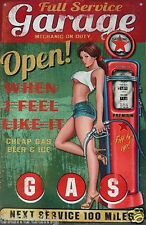"Vintage Sexy Full Service Garage Open Photo Fridge Magnet 2""x3"" Collectibles"
