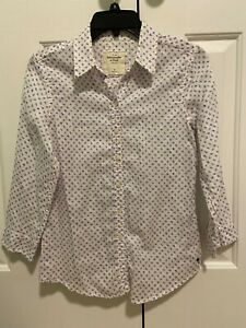 Abercrombie&fitch womens 3/4sleeve Shirt size M 100%cotton