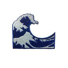 Japan Kangawa Wave Ocean Mt Fuji Emoji Iron On Patch