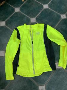 New Tags Hi Viz Ladies Xl Approx 14/16 Jacket Cycling Jogging High Visibilty