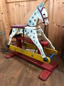 VINTAGE ROCKING HORSE WITH FULL RESTORATION KIT IDEAL PROJECT CHRISTMAS PRESENT