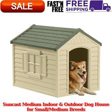 Dog House, Medium Indoor & Outdoor Dog House for Small/Medium Breeds Vinyl Doors