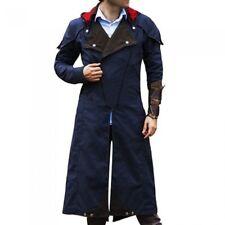 Mens Assassin Creed Unity Arno Victor Dorian Denim Blue Trench Coat | All Sizes