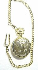 BEAUTIFUL GOLDEN EAGLE LARGE POCKET-WATCH WITH ATTACHED AND/OR REMOVABLE CHAIN
