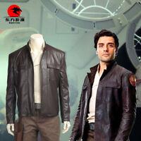 DFYM Star Wars The Last Jedi Poe Dameron Cosplay Costume Leather Jacket