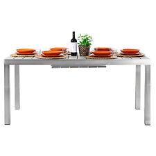 tavolo giardino alluminio allungabile 164 cm fino a 225 cm top in polywood nuovo