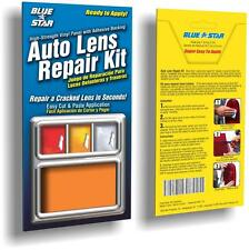 Orange Amber Auto Lens Repair Kit Fix Cracked & Broken Tail Light Smooth Surface