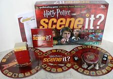 HARRY POTTER Scene It Board Game - 100% Complete MINTY Collectible Metal Tokens