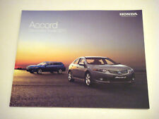 Honda . Accord . Honda Accord Saloon & Tourer . August 2010 Sales Brochure