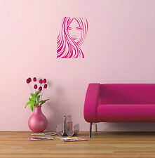 Fashion Woman Girl Face vinyl decal sticker wall art home salon decoration W1