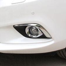 4PCS chrome front fog light cover Eyebrow trim New Mazda6 ATENZA 2013 2014