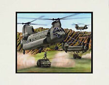 """US Army Chinooks, Hawaii"" 11x14 Print by watercolor artist Garry Palm"