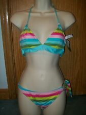 Local Motion  XS 2 piece bikini swimsuit swim suit bathing striped multicolored