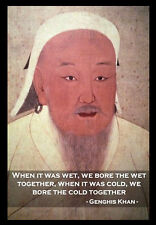 -A3- Genghis Khan INSPIRATIONAL MOTIVATIONAL QUOTE POSTER PRINT #33