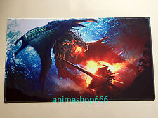 Monster Hunter Jinouga YGO VG MTG Playmat Mouse Pad Free Shipping + Mat Bag #5