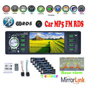 4.1''1DIN Bluetooth Car Radio Stereo RDS USB/AUX FM MP5 Player Headsfree In dish