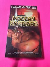 Vhs Modern Warriors The Martial Way. Sealed New. Rare!